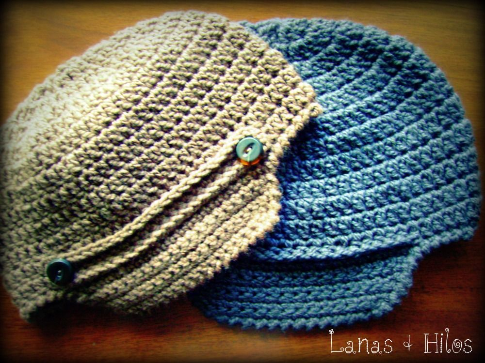 The VISOR HAT is a simple crochet hat with a wing. (ESP) El GORRO ...