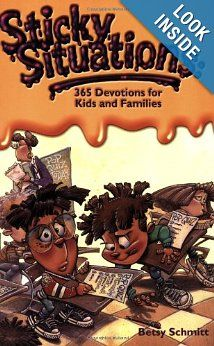Amazon.com: Sticky Situations: 365 Devotions for Kids and Families (0031809065501): Betsy Schmitt: Books