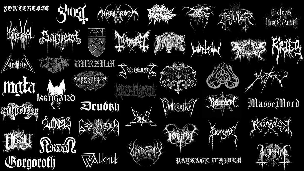 Black Metal Wallpaper By Pggraphisme Metallic Wallpaper Black Metal Metal Band Logos