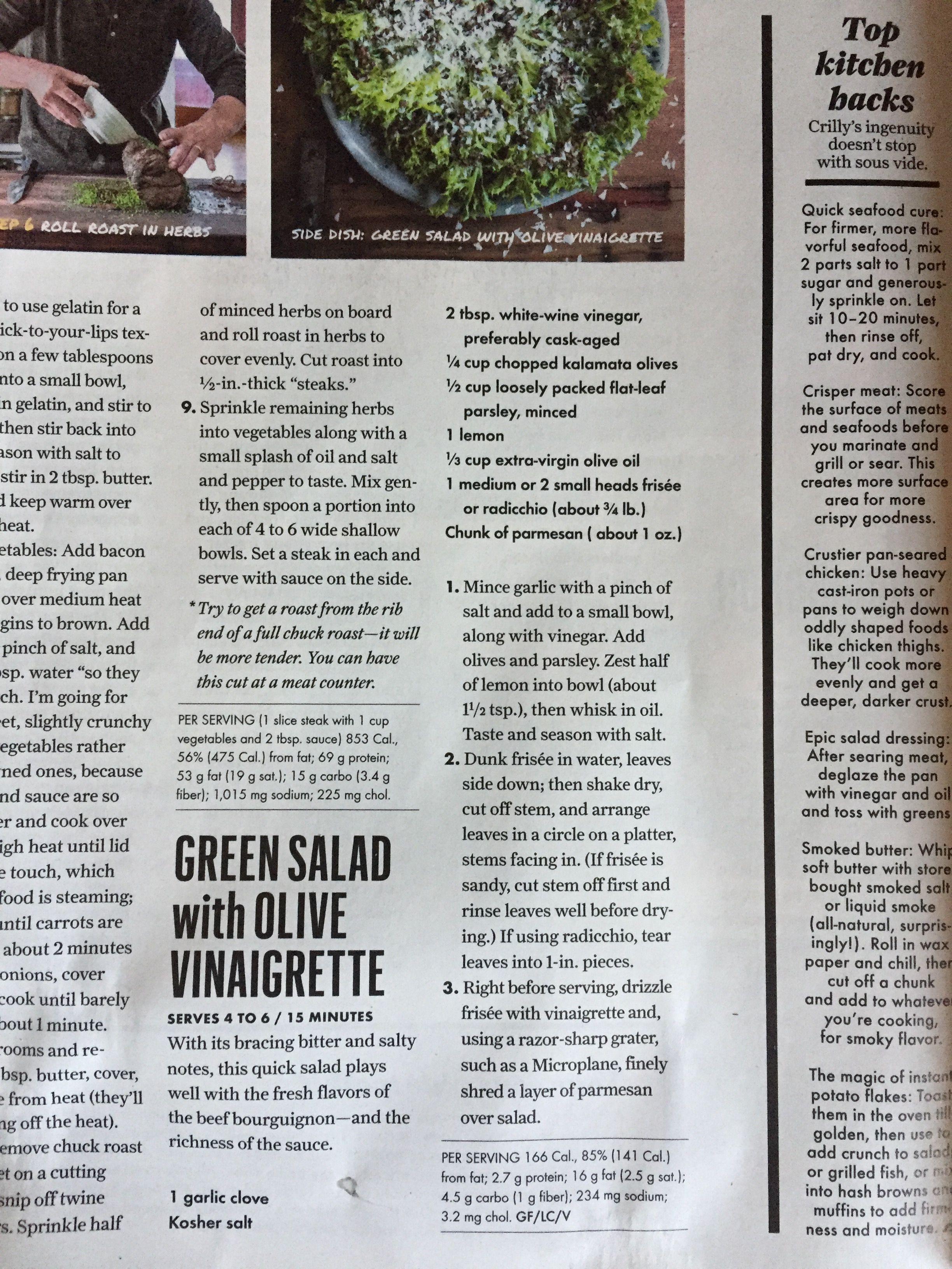Green Salad With Olive Vinaigrette White Wine Vinegar Green Salad Herbs [ 3264 x 2448 Pixel ]