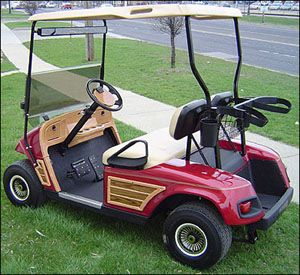 Golf Cart Woody Green on 2002 chrysler gem cart, car cart, box cart,