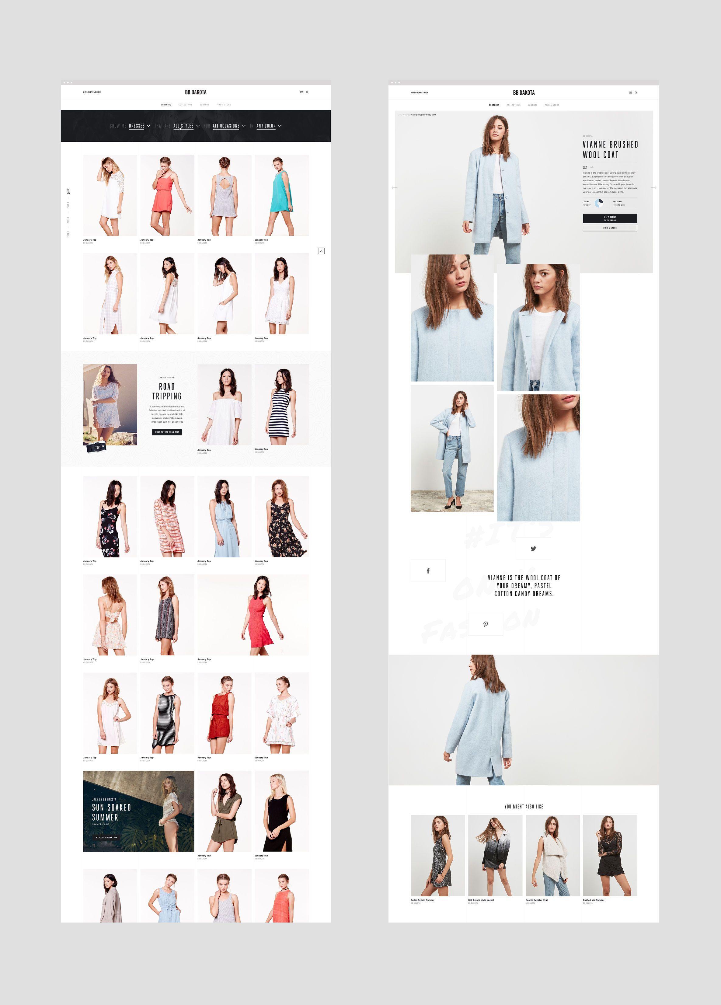 Bb Dakota Fashion Ecommerce User Experience And Web Design Case Study Basic Work Ecommerce Web Design Ecommerce Design Web Design Company