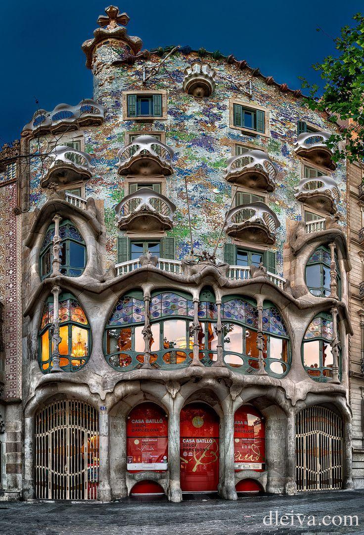 Casa Batllo en Barcelona (Antoni Gaudi) #arquitectonico