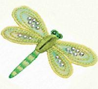 Bordado Applique Dragonfly Motif - embelezado 26290