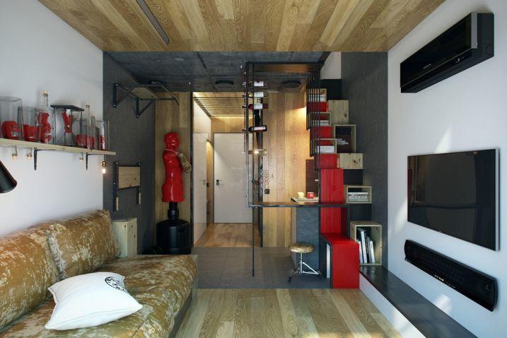 Découvrez des conseils et des astuces pour aménager et décorer un studio de  18m2 et optimiser l espace au maximum. a80458e4fc3d
