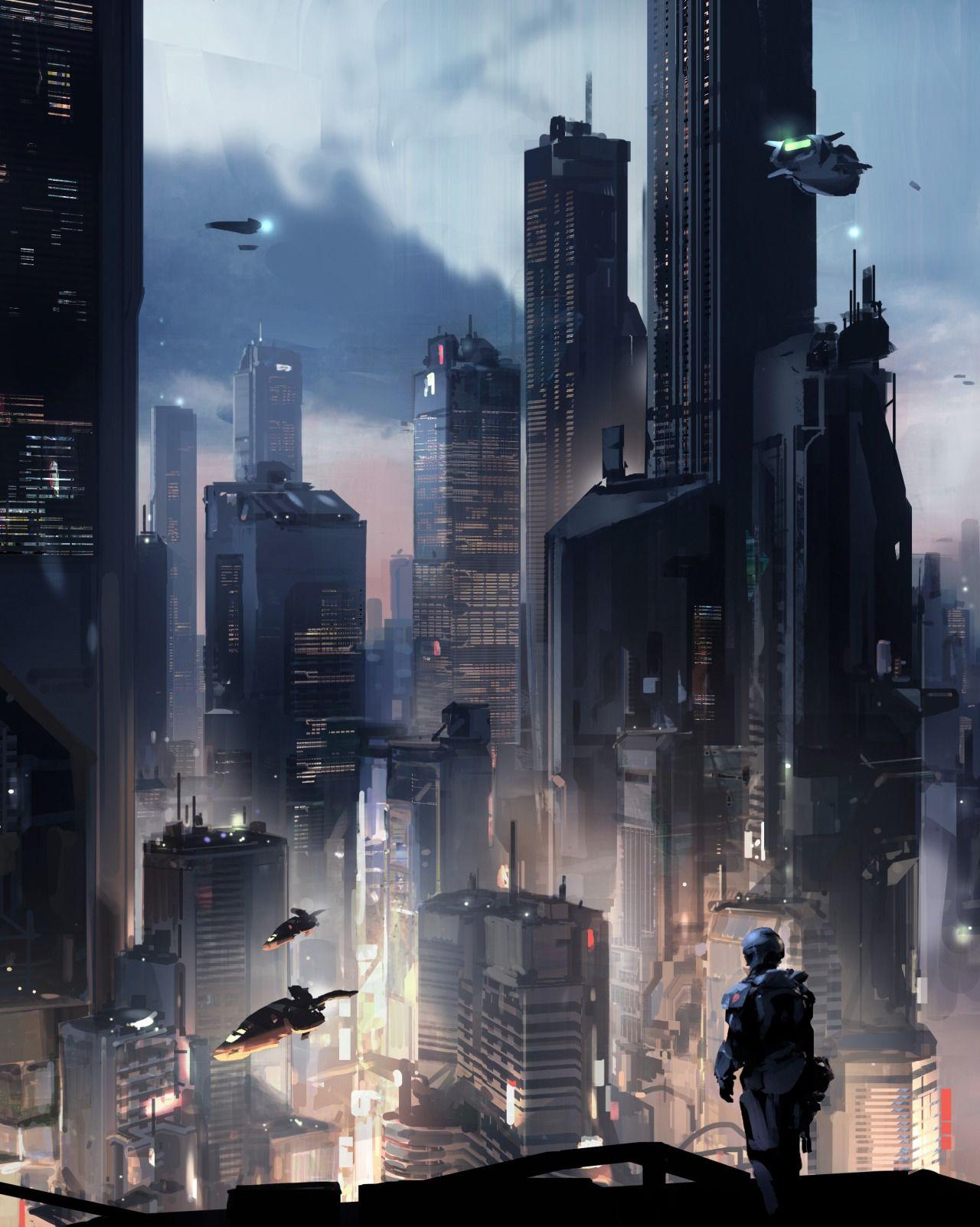 Cyberpunk City, Futuristic City, Sci Fi City
