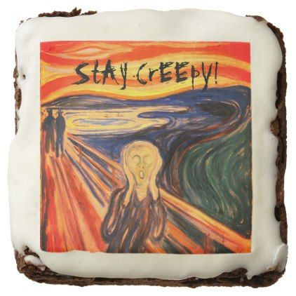 THE SCREAM StAy CrEEpY HaLLoWeeN Brownie | Zazzle.com #halloweenbrownies