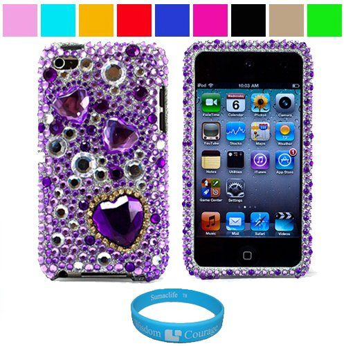 Brown Yellow Flower Soft Silicone Rubber Skin Case Cover for iPod Touch 4th Gen