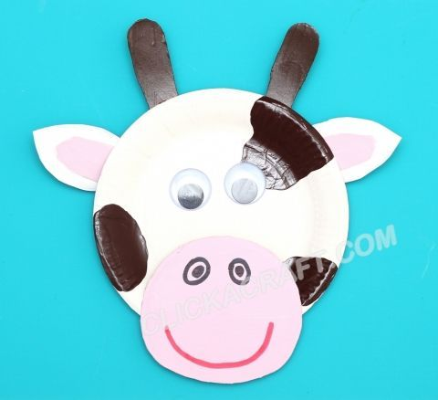 Paper Plate Cow - Craft Ideas of Making Cute Paper Plates Animals with Children  sc 1 st  Pinterest & Paper Plate Cow - Craft Ideas of Making Cute Paper Plates Animals ...
