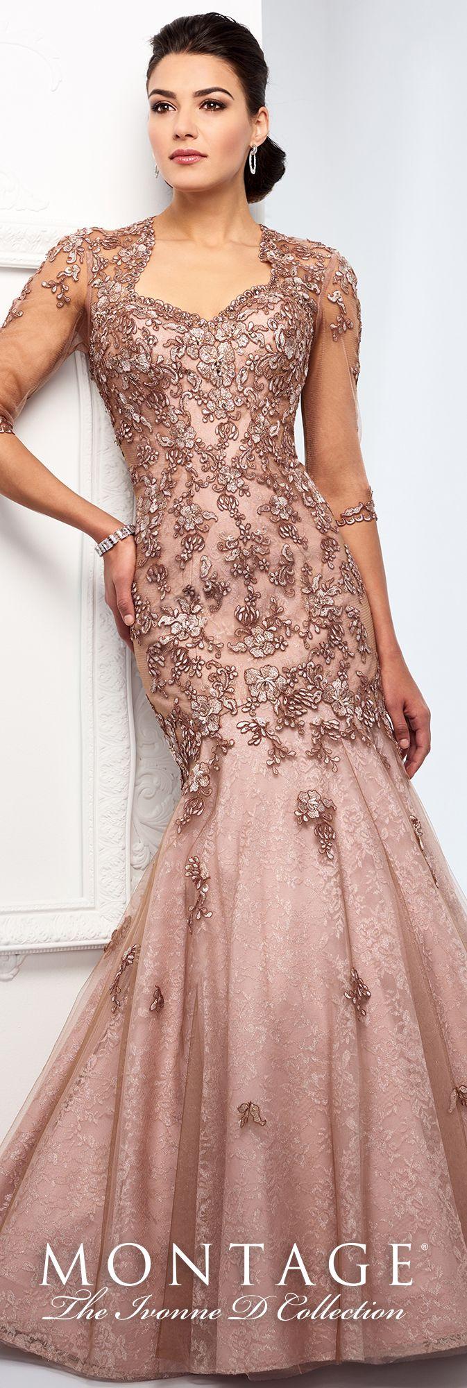 Ivonne D - Evening Dresses - 218D31 | Pinterest | Vestido bordado y ...