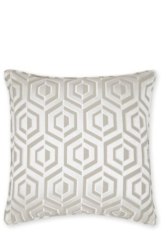 Buy Feather Filled Opulent Geo Jacquard Cushion from the Next UK