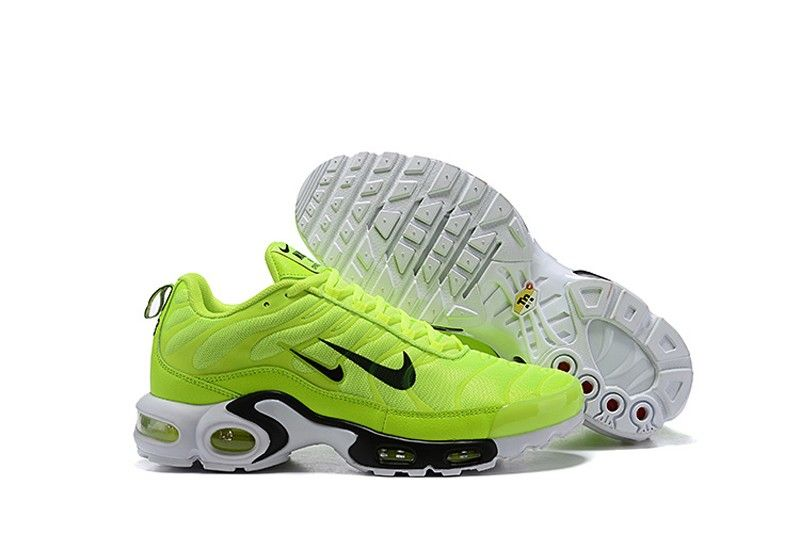 Nike Air Max Plus 815994 300 Men S Fluorescent Green White Black Sports Life Shoes Top Deals Sneakers Big Sale Nike Air Max Plus Nike Air Max Mens Nike Air
