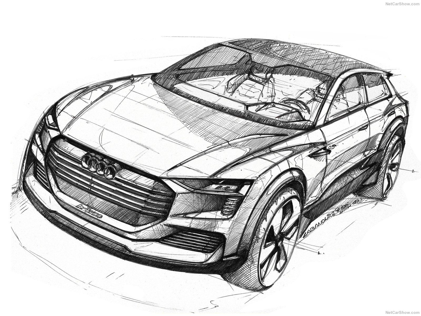 Audi Htron Quattro Concept HOT SKETCHES Pinterest - Audi car drawing