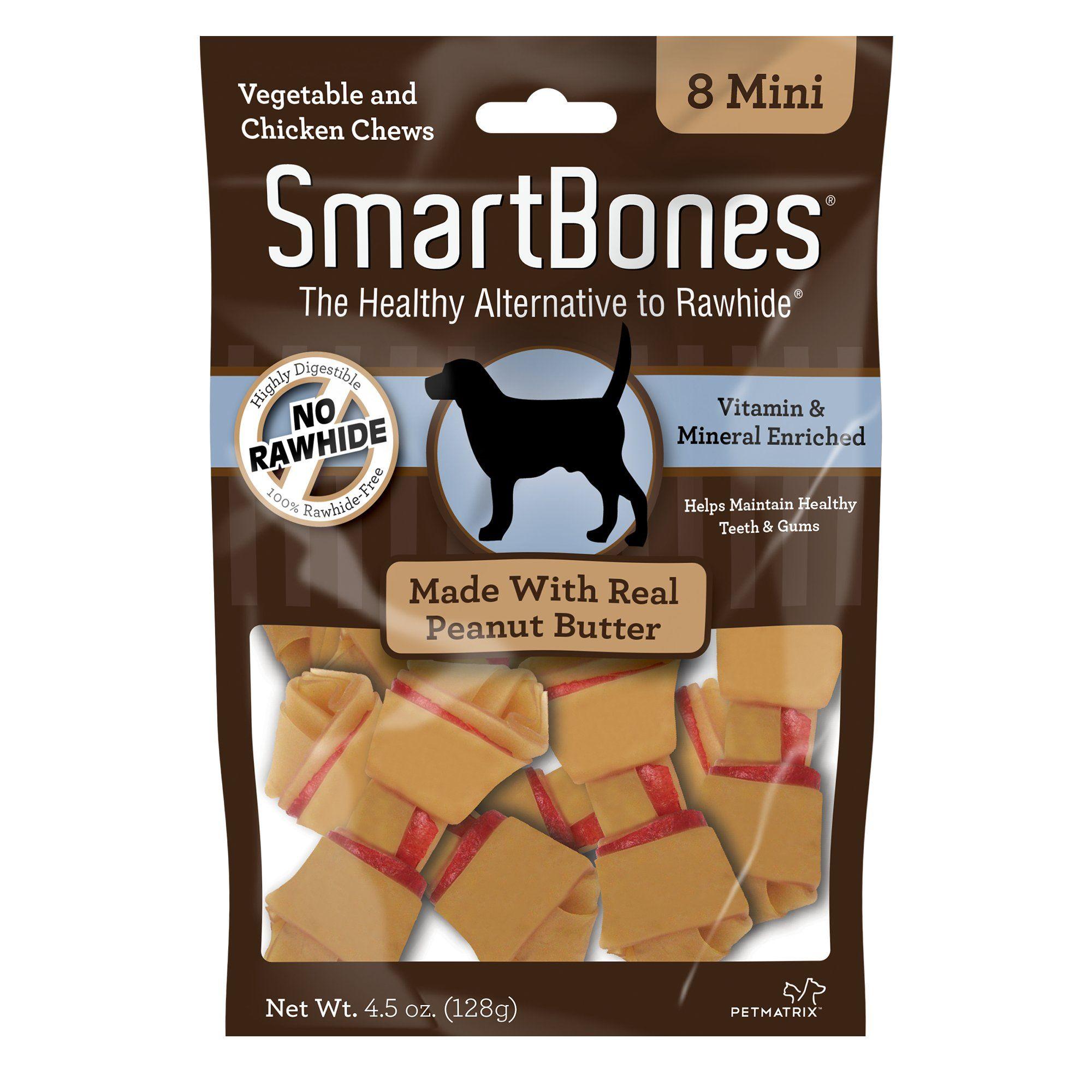 Smartbones No Rawhide Peanut Butter Mini Dog Chews 8 Pk Peanut