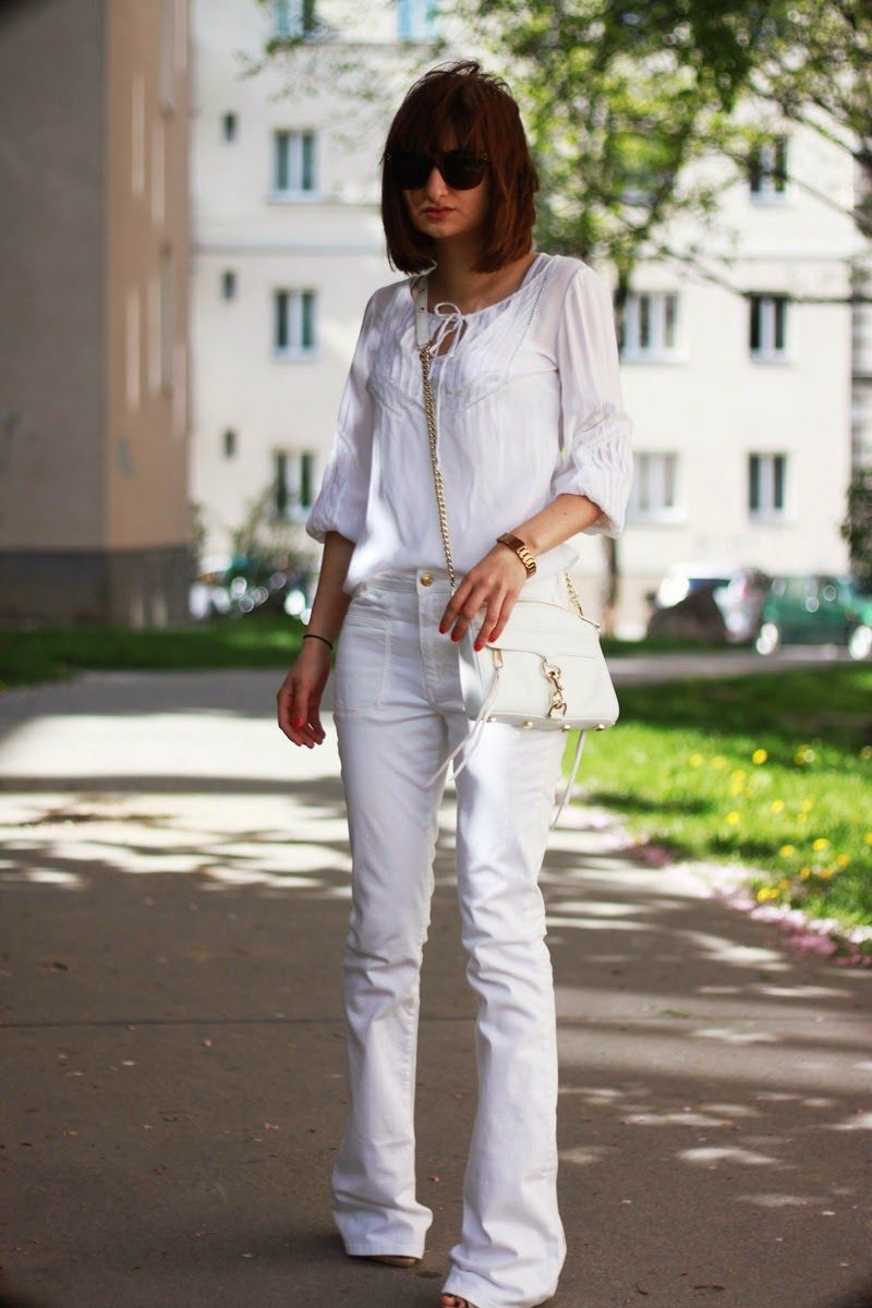 flared jeans, white frale jeans | My Style Pinboard | Pinterest ...