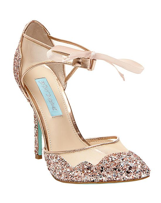 Merveilleux Blue By Betsey Johnson SB STELA Champagne Wedding Shoes Photo