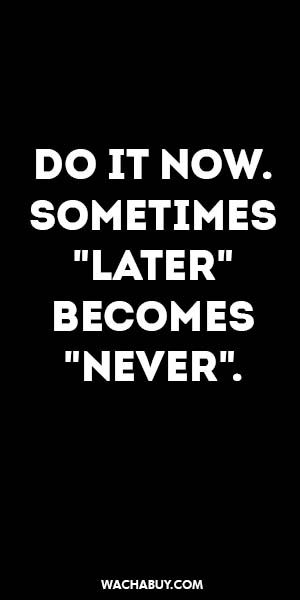 """#inspiration #quote / DO IT NOW. SOMETIMES """"LATER""""  BECOMES """"NEVER""""."""