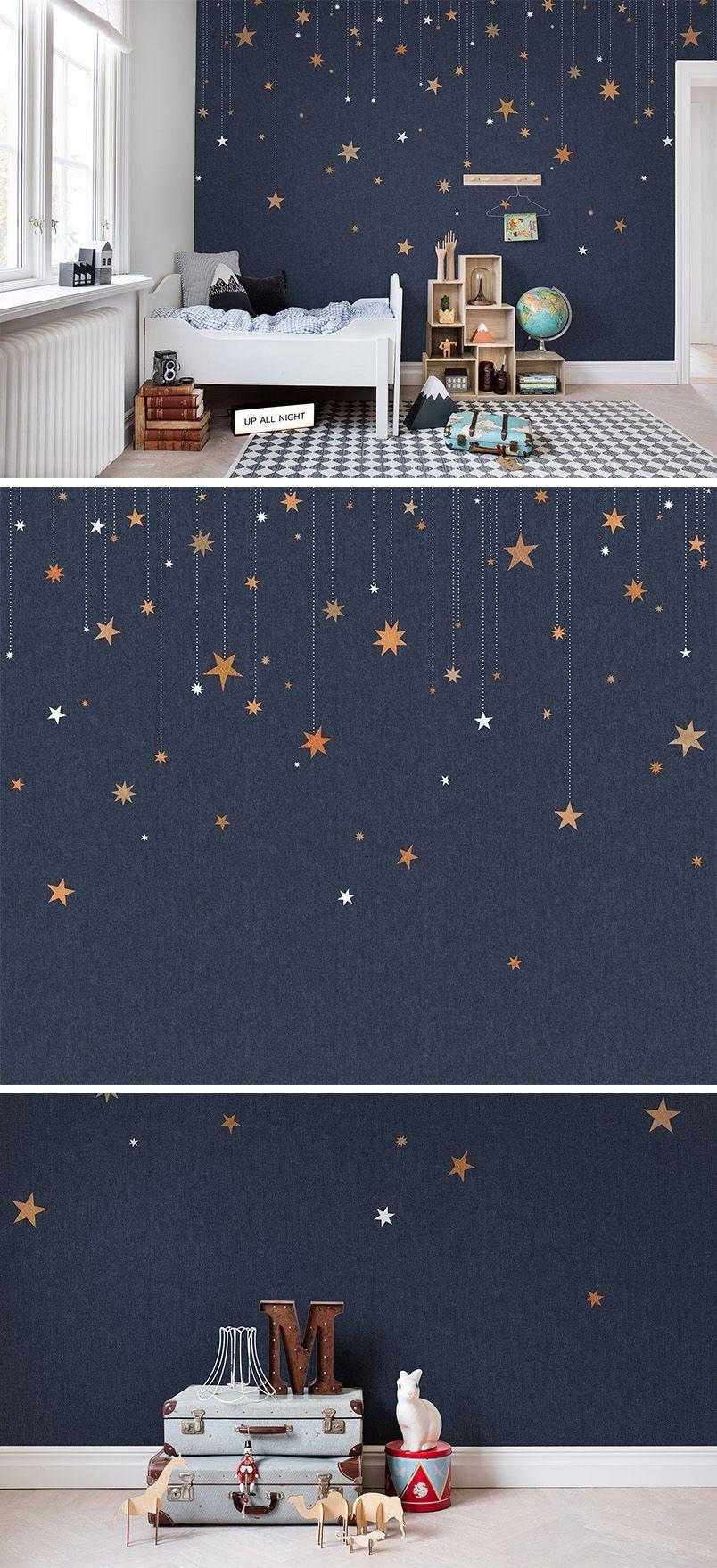 Interior design of children's bedroom wallpaper  wall mural  interior design  kidsu room  nursery