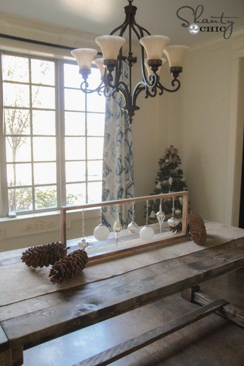 Dining Table Centerpiece for Christmas