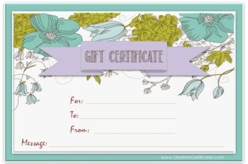 free editable gift certificate