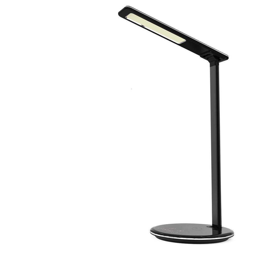 Multi Function Folding Eye Protection Led Desk Table Lamp With Qi Wireless Desktop Charger Usb Output Ecomyfy Chrom Led Usb Table Lamp