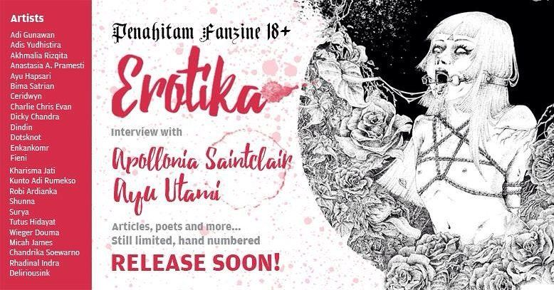 #repost from @penahitam.arts Hey friends! #penahitam_fanzine special edition -- Erotica gonna be published soon! We're still in the production process but we'll announce the Pre-order real soon so Stay Tuned!  Thanks so much to everyone who submitted--it was so exciting! All of the works were fuckin' awesome! But because we have page limits due to cost... we just have to pick; so these are people who got accepted! Adi Gunawan Adis Yudhistira Akhmalia Rizqita Anastasia A. Pramesti Ayu Hapsari…
