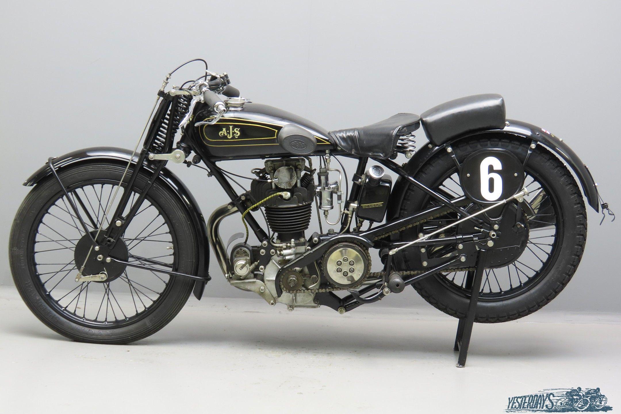 Ajs 1930 R7 349cc 1 Cyl Ohc 3010 Yesterdays British Motorcycles Ajs Motorcycles Sturmey Archer