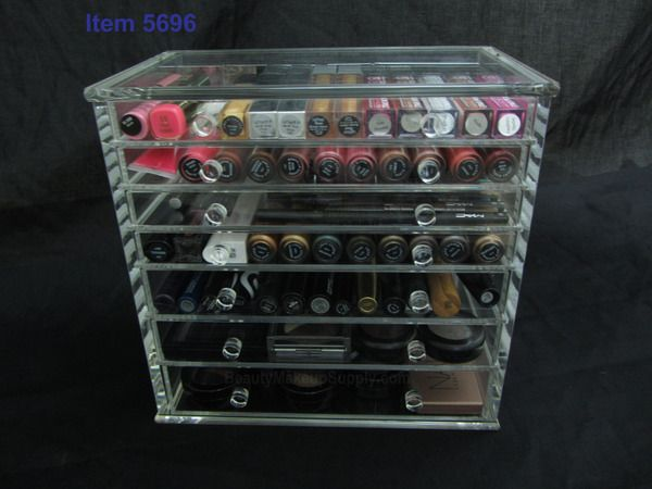 Acrylic Cosmetic Jewelry Organizer Luxury 7Drawer Table Top