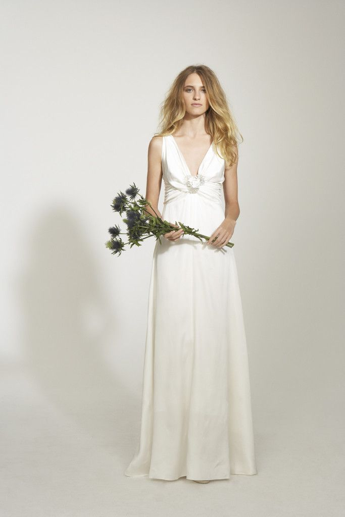 Nicole Miller Double Face Satin Rosette Wedding Dress for Nearly ...