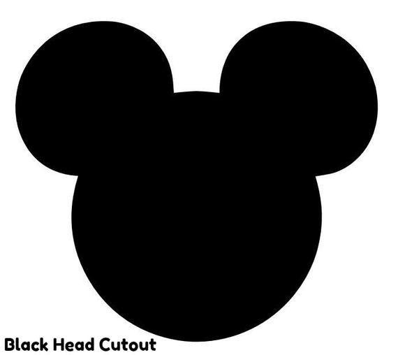 2 pies recorte de Minnie o Mickey Mouse figura de fiesta cutout standee prop