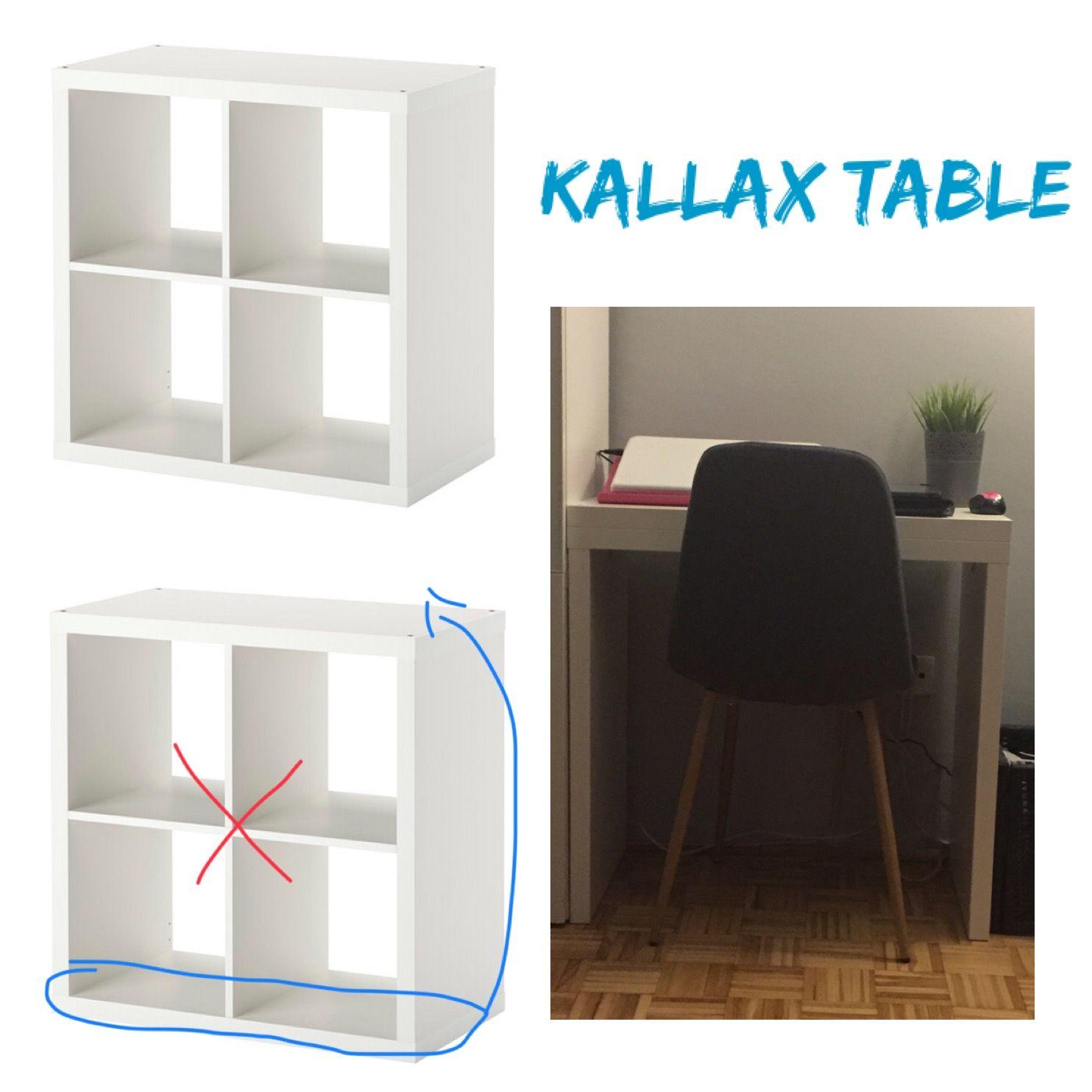 Ikea Hack Turn Kallax Bookshelf Into A Laptop Table Ikea Expedit Ikea Storage Bench