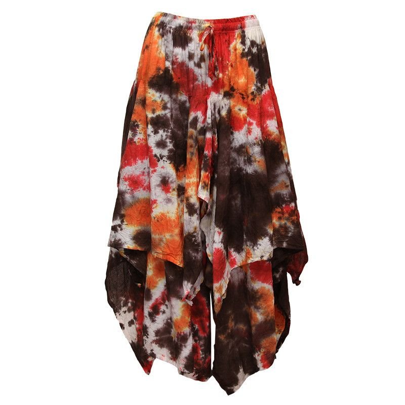 Layered Cotton Tie Dye Skirt | The Hippy Clothing Co.