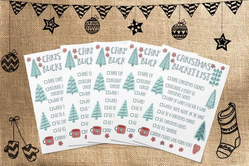 Mindful Christmas Bucket List Funny Christmas Card | Christmas Card Pack | Holiday Card for Friends #adventlustigerster