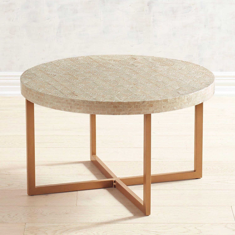 Coastal Capiz Coffee Table Pier 1 Imports Coffee Table Indoor Patio Furniture Living Room Coffee Table [ 1500 x 1500 Pixel ]