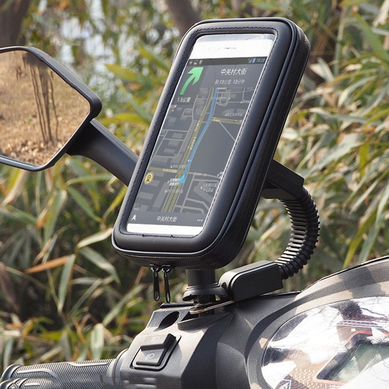 Universal Motorcycle Phone Holder Stand For Rotatable 3 5 Inch 6 5