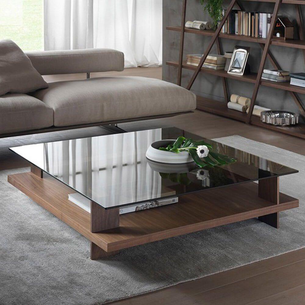 Pacini E Cappellini Corallo Coffee Table Square Nk Bronze Glass Top Centre Table Living Room Center Table Living Room Living Room Table