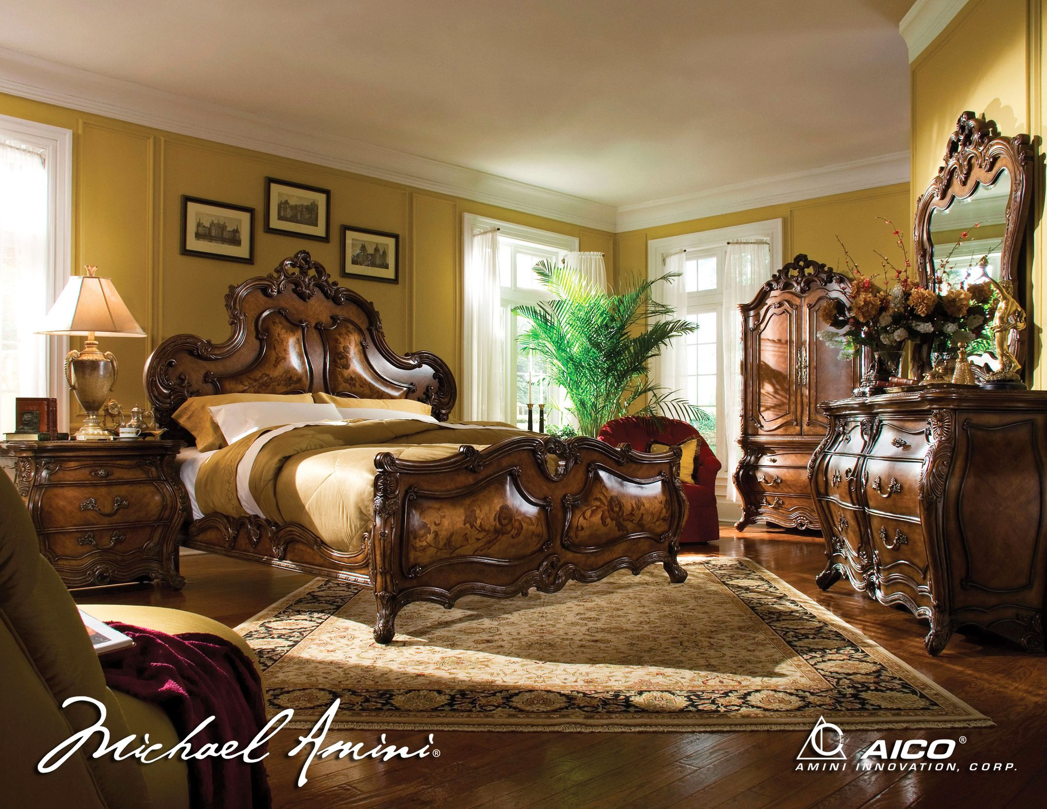 Bedroom Full Size Sets Glamour Queen Set With Rustic Headboard Exciting Cabinetry Mesmerizing