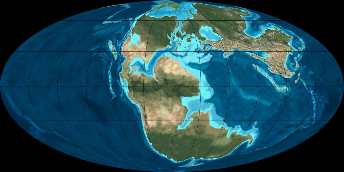 Mollewide OvalGlobe Plate Tectonic Map of the Earth from the