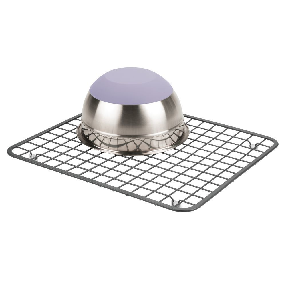 Metal Grid Kitchen In Sink Protector Mat Drying Rack 11 X 12 75 In 2020 Metal Grid Kitchen Sink Countertop Sink Mats