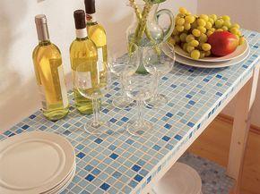 Rivestimento Tavolo ~ Tavolo con rivestimento a mosaico pittura e decorazione casa