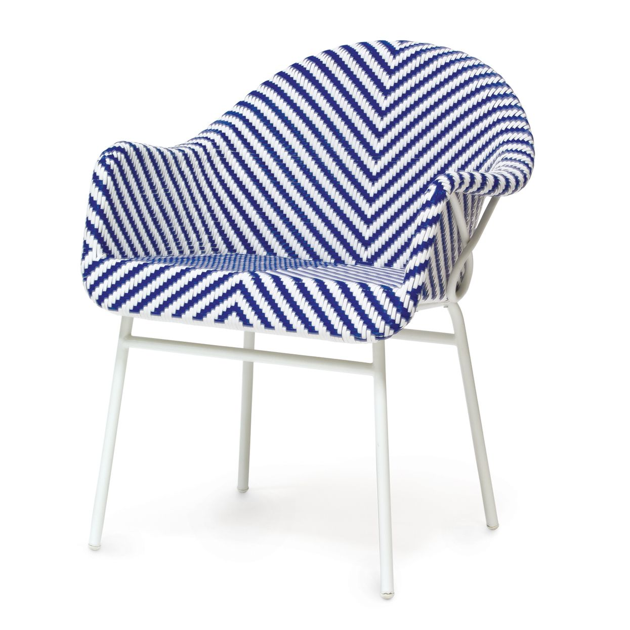 Blue and White Garden Arm Chair - Mecox Gardens  Outdoor armchair