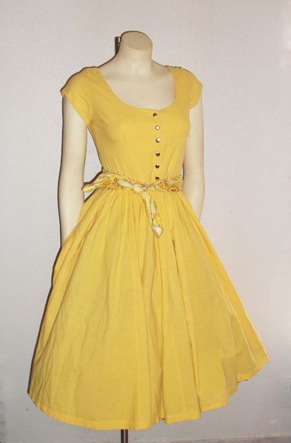 vintage yellow dress by Lulu'sDressingRoom, via Flickr | Clothes ...