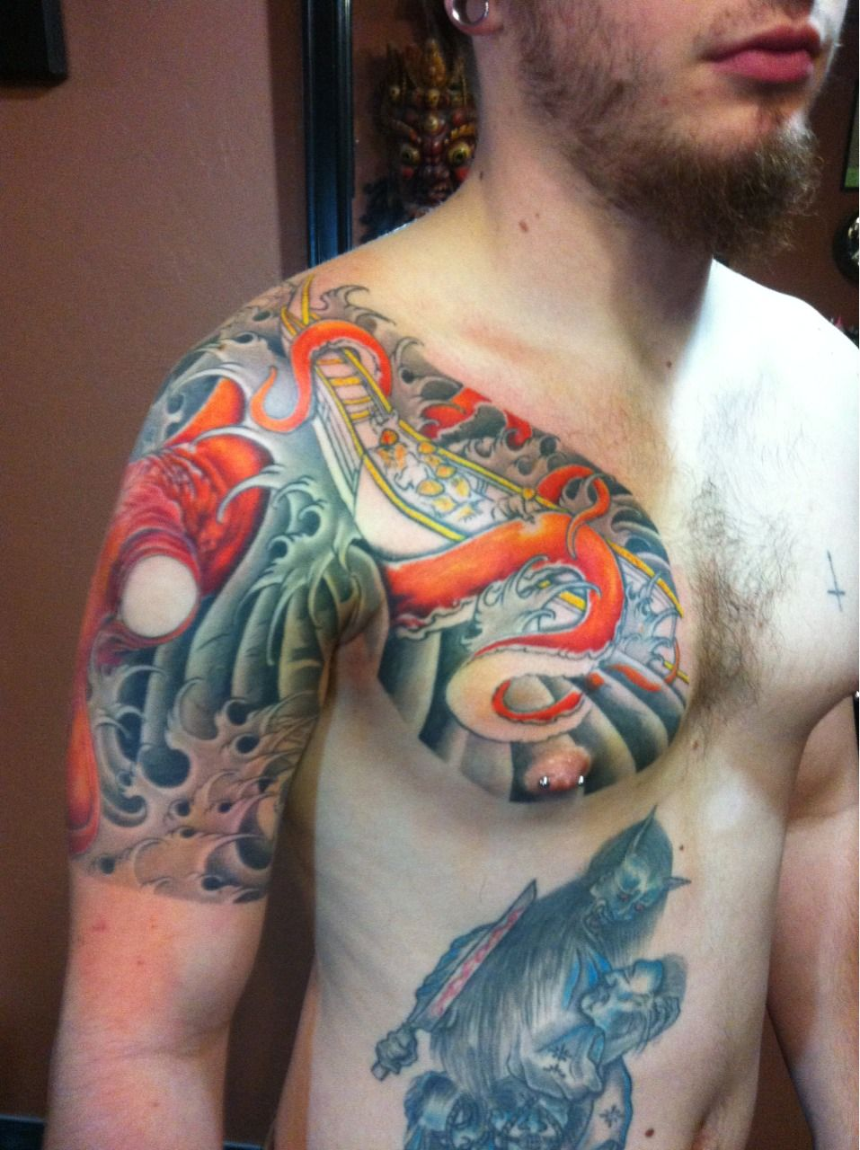 I Like The PLACEMENT On This Guy. Japanese Chest-plate-to