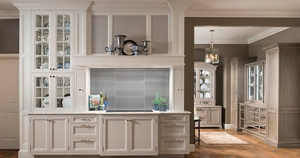 Wood Mode Fine Custom Cabinetry Bright White And Silver Mist
