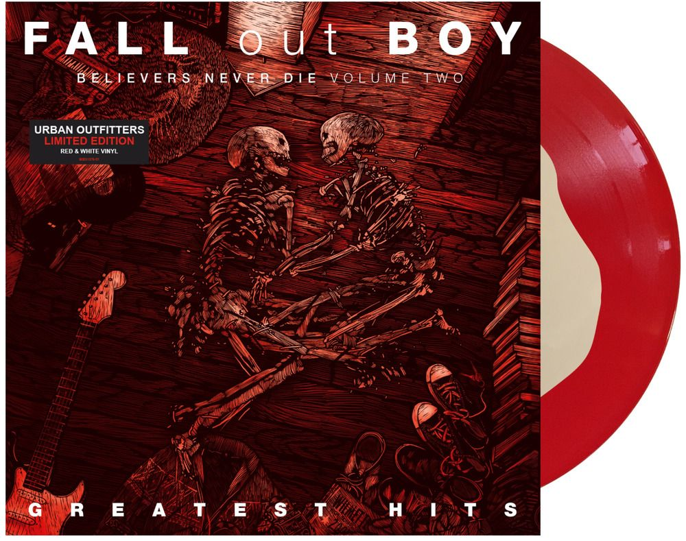 Fall Out Boy Greatest Hits Believers Never Die Volume 2 Red And White Vinyl In 2020 Fall Out Boy White Vinyl Red And White