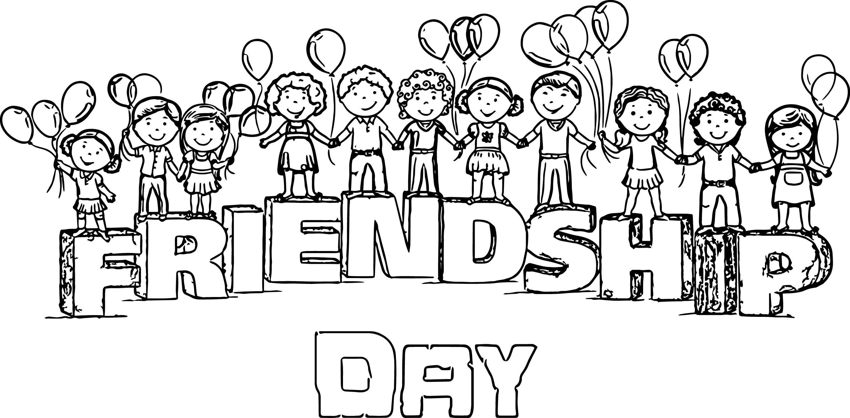 8 Coloring Page Friendship Friendship Day Images Happy Friendship Day Happy Friendship Day Images