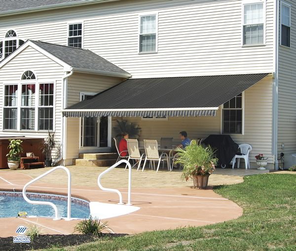 Poolside Estate Retractable Awnings For Cool Shade Window Installation Solar Shades Home Estimate