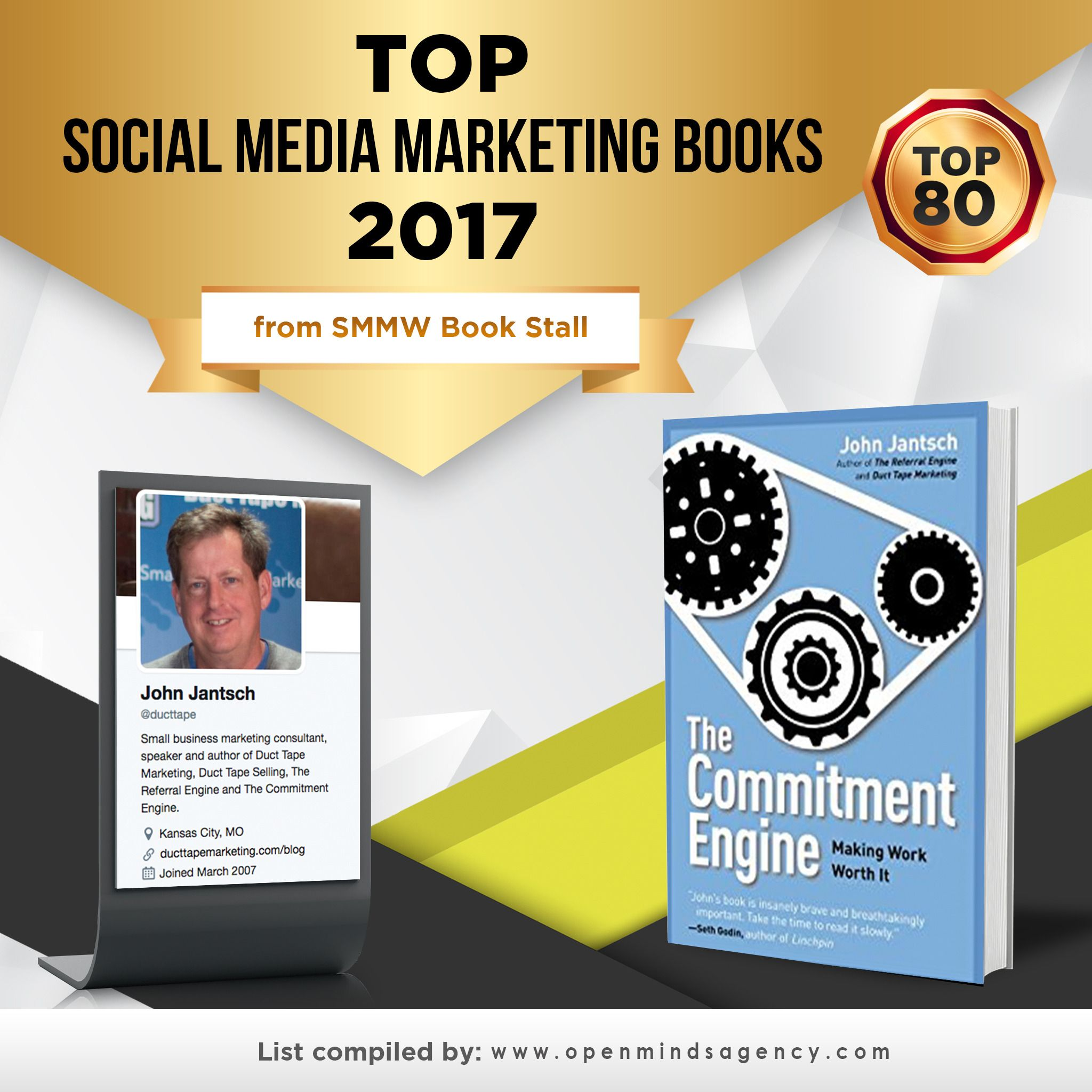 Top #SocialMedia #Books 2017: The Commitment Engine by @ducttape.   Full list: http://openmindsagency.com/top-social-media-marketing-books?utm_source=pinterest&utm_medium=link&utm_campaign=quote59-omaoma0058 #omagency #socialmedia #books