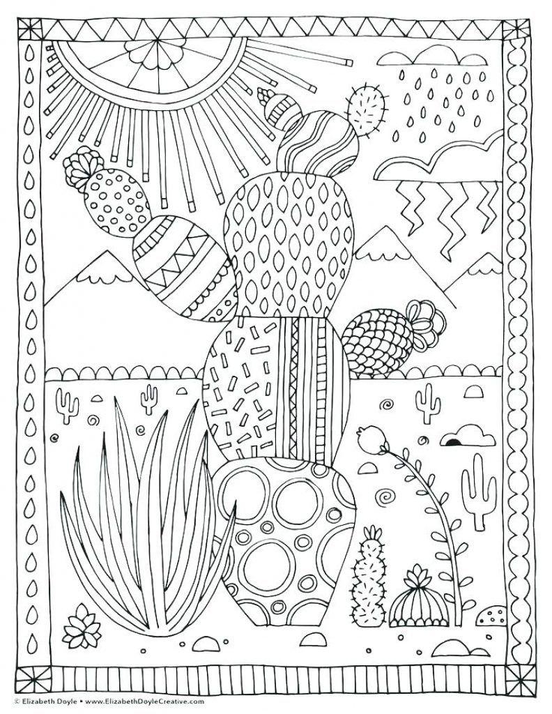 Succulent Coloring Pages   Coloring pages, Mandala ...