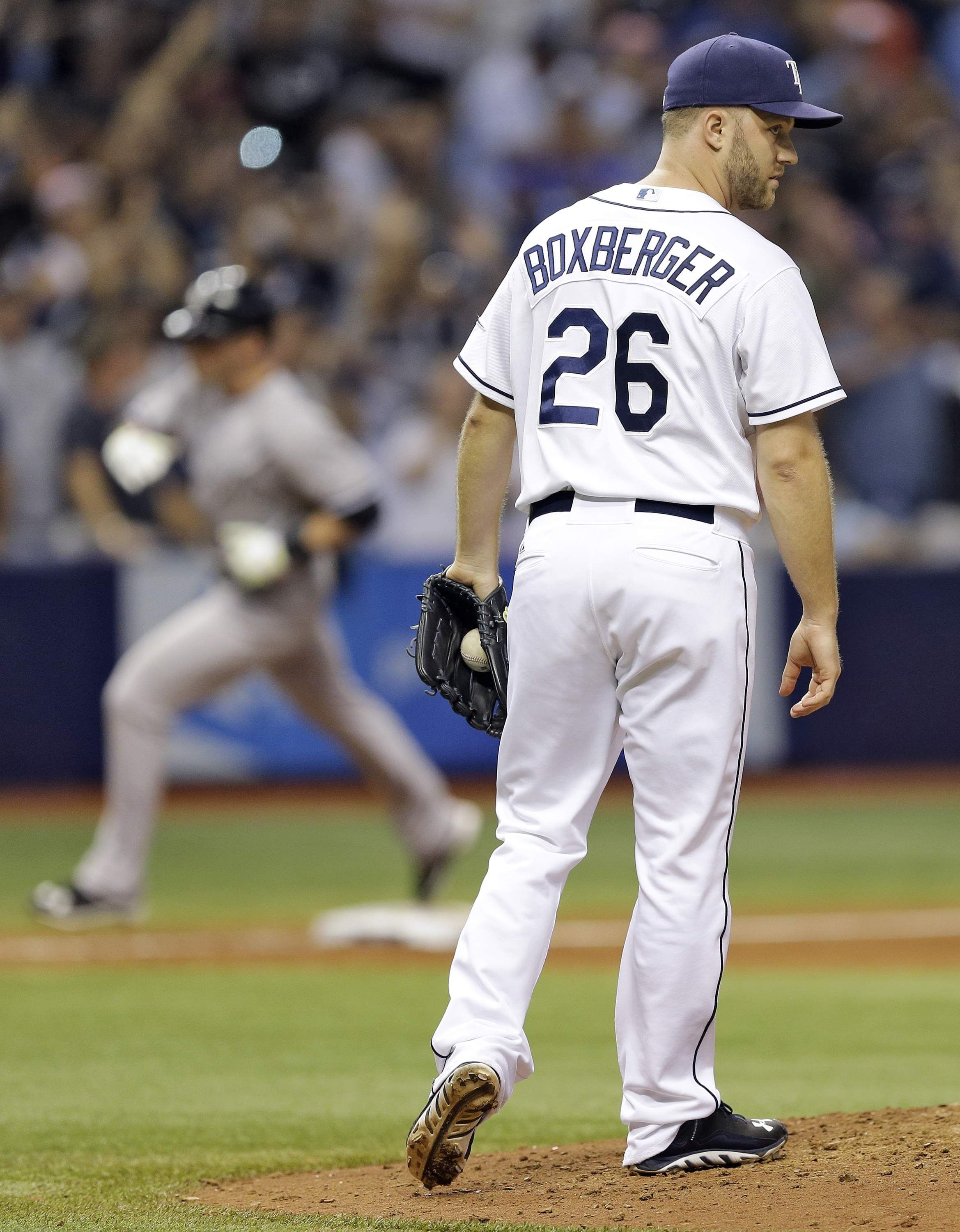 No Hitter By Ramirez Spoiled As Rays Lose 4 1 To Yankees Yankees Team New York Yankees Tampa Bay